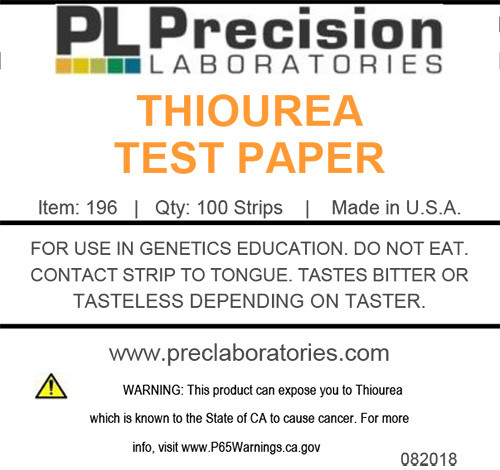 thiourea, thiourea test paper, taste test paper, genetic taste tests