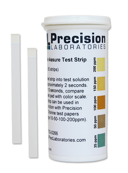Chlor-Assure Chlorine Test Strip, 200ppm, chlorine test strip