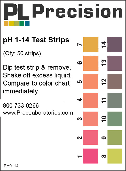 pH Test Strips 1-14, pH test