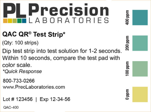 Quick Response QAC Test Strip, qac test strip