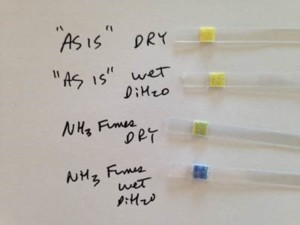 ammonia 0-100ppm test strip, ammonia gas detection