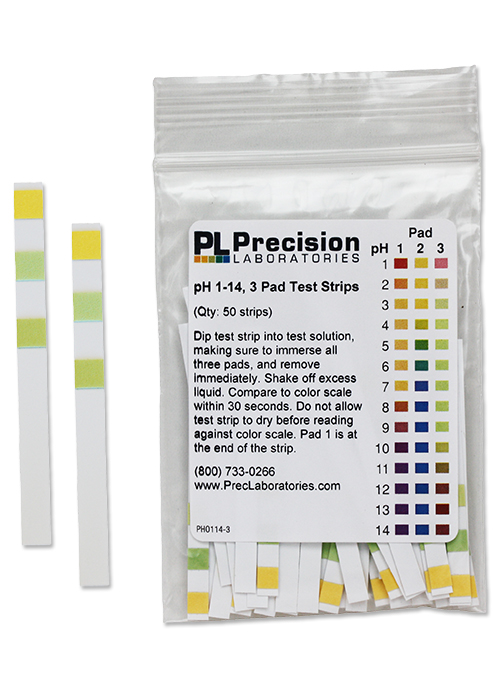 pH 1-14 Test Strips, 3 pad, pH test strips, pH, test strips